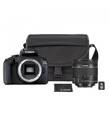 CAMARA CANON EOS 2000D +18-55 IS KIT (BOLSA Y SD 16GB)